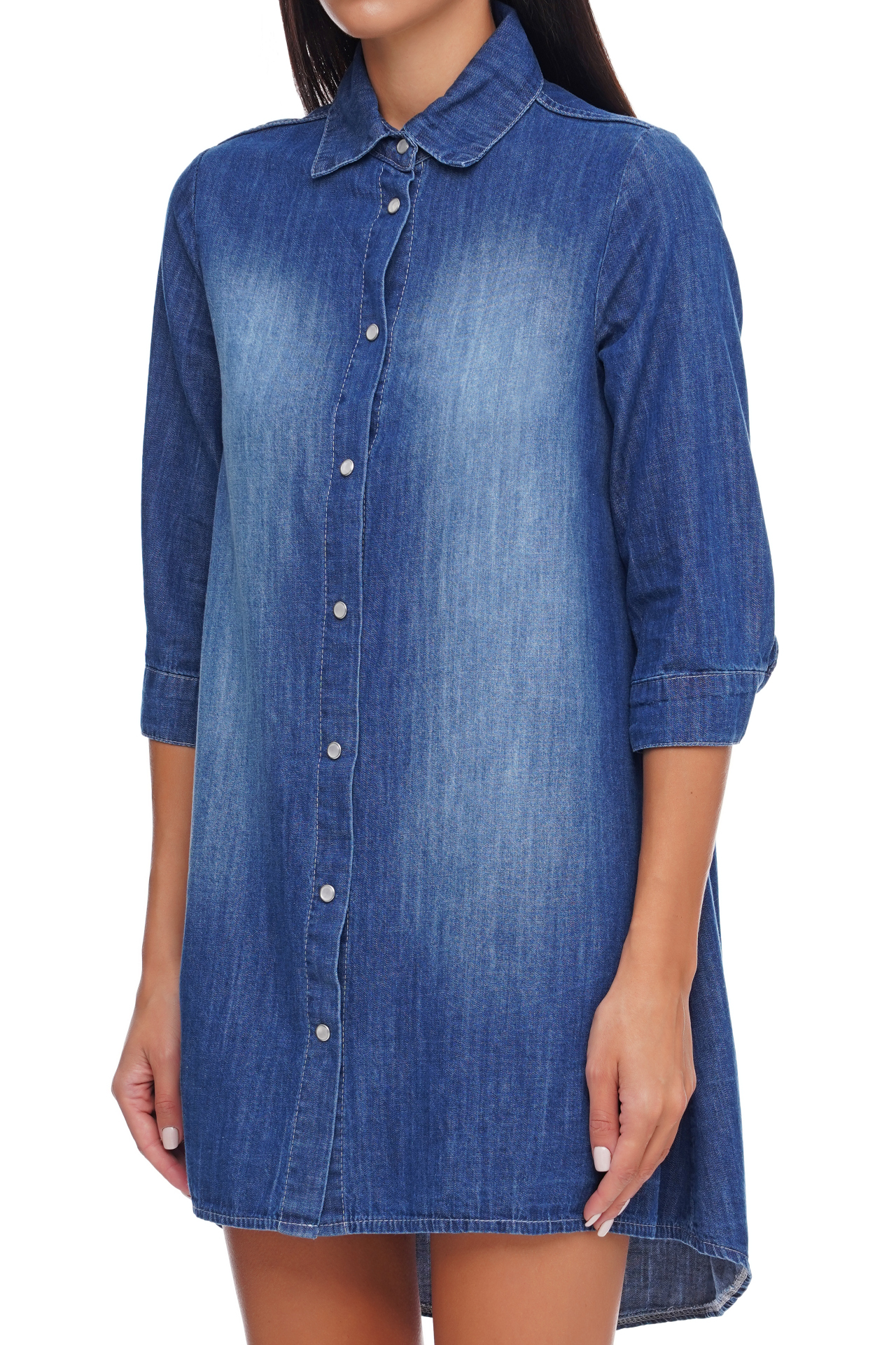 Le Streghe Jeans Hemd Kleid